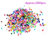 AOWA 5mm Mix Color Approx.2000pcs Fuse Bead for DIY Craft Toy (Color: mix color 5mm bead)