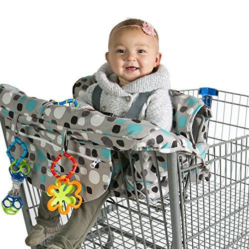 Read About Kiddlets Shopping Cart & High Chair Cover for Baby, Includes Carry Bag, Machine Washa...