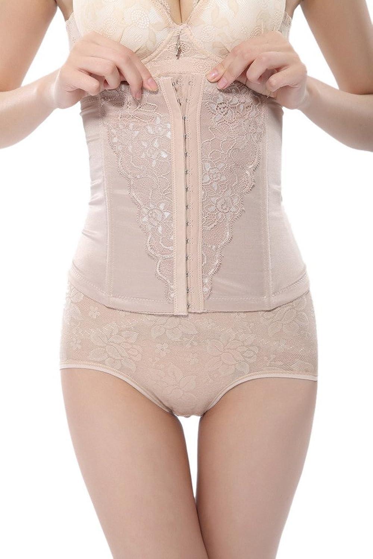 Bigood Damen Miederpants Body Figur-Body Figurenformend Bodyshaper Korsettgürtel jetzt kaufen