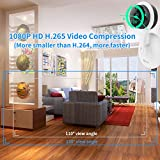 miSafes 1080p HD Day Night Vision Mini Smart Wireless Wifi Indoor Home Security Surveillance Nanny Camera Two-Way Audio Motion Alerts Remote View Cam Easy Bluetooth Connection 304 White