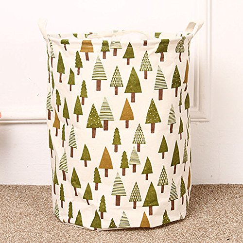 Fabric Foldable Round Laundry Basket Hamper Closet Storage Bin Bag yw (Expresso Storage Bins compare prices)