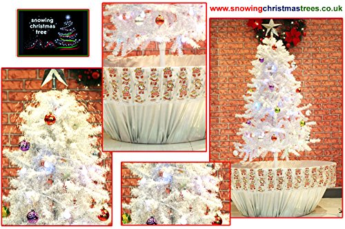 Snowing-Christmas-Tree-with-WhiteSilver-Flower-Pot-Base-2015-5-New-Features