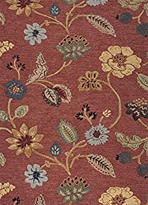 Jaipur Rugs Inc Hand Tufted, Garden Party Navajo Red/Marigold, 3.6 by 5.6 Feet