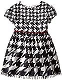 Hartstrings Little Girls' Houndstooth Shantung Dress