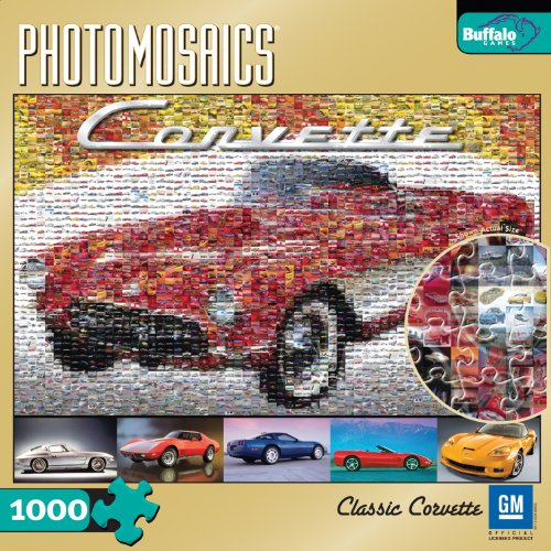 Cheap Fun Buffalo Games Classic Corvette 1000 Piece Photomosaic Jigsaw Puzzle (B001W7ZMCG)