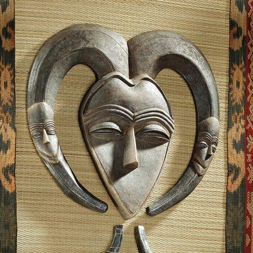 African Tribal Wall Mask: Kwele