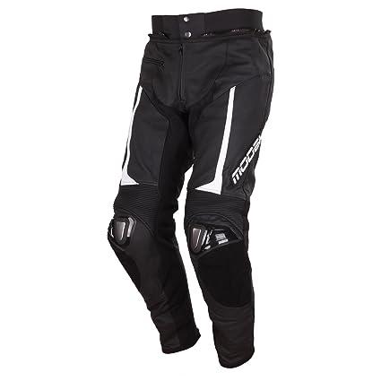 Modeka kYALAMI pantalon en cuir-noir/blanc