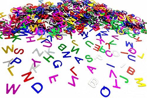 ABC Konfetti Buchstaben für Kinder   Schuleinführung Einschulung Schulanfang Geschenk   Kinder Geburtstag Party Deko