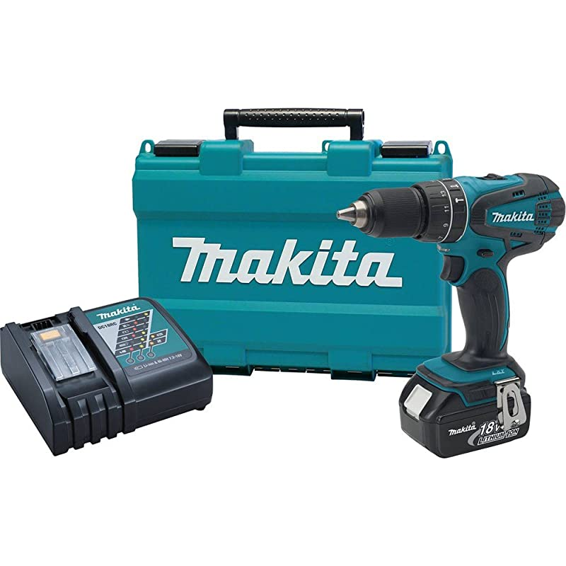 Makita XPH012 18V LXT Lithium-Ion Cordless 1/2-Inch Hammer Driver-Drill Kit with One Battery