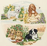 Anchor Cross Stitch Puppy Seasons