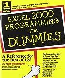 Excel 2000 Programming For Dummies (0764505661) by Walkenbach, John