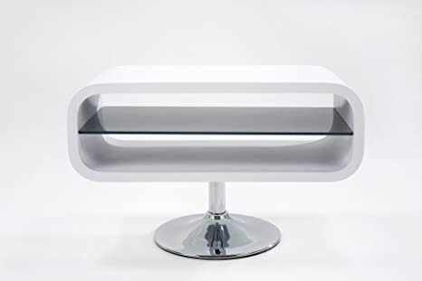 ABC Home - Mesa para televisor (estilo escandinavo), color blanco