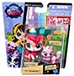 Littlest Pet Shop Pawsabilities - Two Pairs of Pets - Sugar Sprinkles - Ripley Davis - Pepper Clark - Dawn Ferris - Four Total