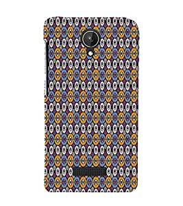 Abstract Art 3D Hard Polycarbonate Designer Back Case Cover for Micromax Canvas Spark Q380