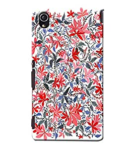 Blue Throat Vector Design Printed Designer Back Cover/Case For Sony Xperia M4