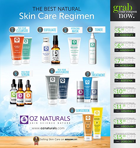 OZ Naturals Pro-Astax- THE BEST Vitamin C Serum For Your Face Contains Clinical Strength 20% Vitamin C + Hyaluronic Acid Anti Wrinkle Anti Aging Serum For A Radiant & More Youthful Glow! Guaranteed The Best!