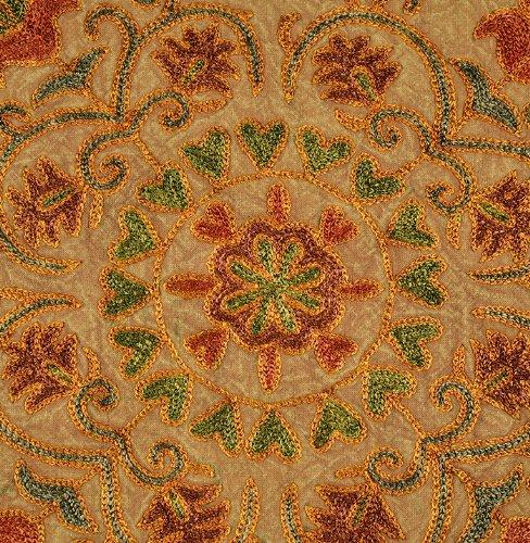 Imagen 3 de Trabajos de bordado indio Algodón 5 Piece Set Cojín Tamaño 16 x 16 pulgadas