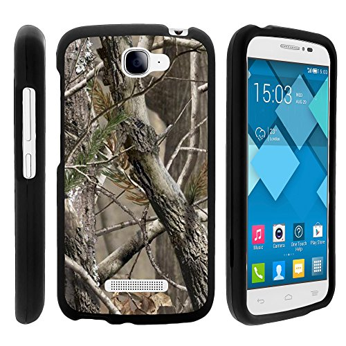 Alcatel Pop Icon Case - Perfect Fit Cell Phone Case Hard Cover with Cute Design Patterns for Alcatel POP ICON A564C - Alcatel One Touch Fierce 2 7040T T Mobile - Metro PCS - Straight Talk from MINITURTLE Includes Clear Screen Protector and Stylus Pen - Natures Camouflage