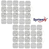 Syrtenty TENS Unit Electrodes Pads 1.5 inch Square 40 Pcs Replacement Pads Electrode Patches For Electrotherapy