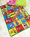Hr's 3ft X 5ft Kids Educational/playtime Non-slip Gel Back Area Rug Carprt Multi Color (abc Animals)