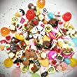 20 Pieces Mixed lot Food Resin Flatback Kawaii Cabochons Decoden Pieces