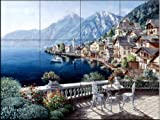 Hallstatt Austria by Sam Park Tile Mural for Kitchen Backsplash Bathroom Wall Tile Mural