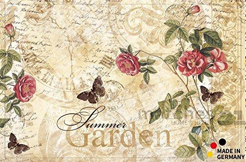 fussmatte-fussabstreifer-flat-rosen-summer-garden-50x80x05-cm-extra-flach-rutschfest-maschinenwaschb