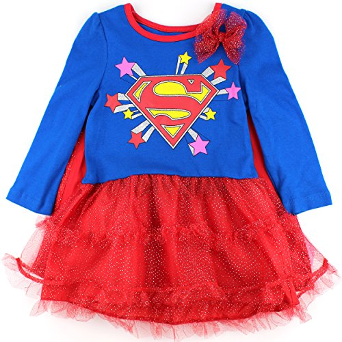 Supergirl Toddler Blue Dress with Cape