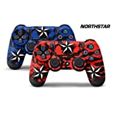 247Skins Dual Skin Sticker Wraps 2 Pack PS4 Playstation 4 Remote Controller Decals NSTAR