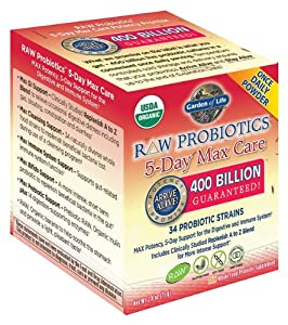 Garden of life raw probiotics 5 day max care 34 probiotic strains 2 4 oz for Garden of life probiotics amazon