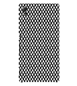 Black Crazi Dot Pattern 3D Hard Polycarbonate Designer Back Case Cover for Sony Xperia Z4 :: Sony Xperia Z4 E6553