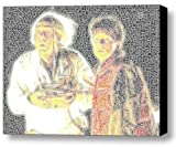 Doc Marty Back to the Future Word Mosaic Framed 9x11 Inch Limited Edition with COA