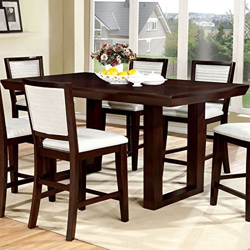 Garrison Transitional Style Espresso Finish 9-Piece Counter Height Table Set (9 Piece Espresso Dining Set compare prices)