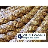 WESTWARD MANILA NATURAL ROPE (20mm) Decking, Garden, Boating, Tug of war, Climbing rope. PRICE IS PER METRE