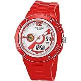 Hot sale new arrival Alike AK14105 fashion luxury quartz watch digital waterproof sport high fashion wristwatches (red) (Color: red)