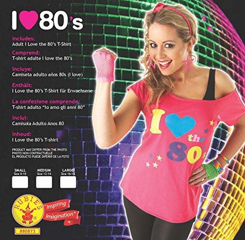 Fancydress T-shirt de déguisement Thème années 80 Taille 44-46