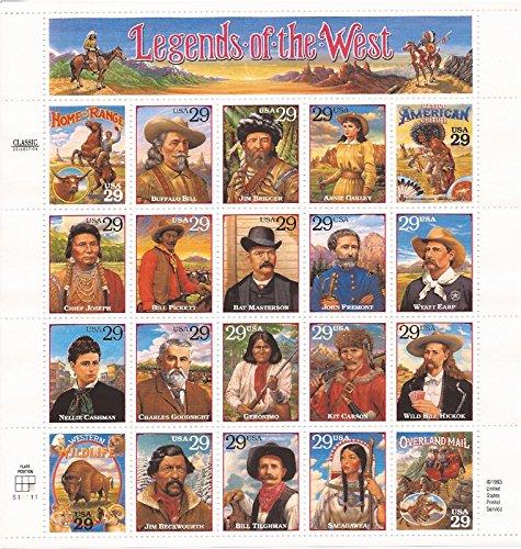 Legends of West Scott # 2869 20 x 29 Cent US Stamps