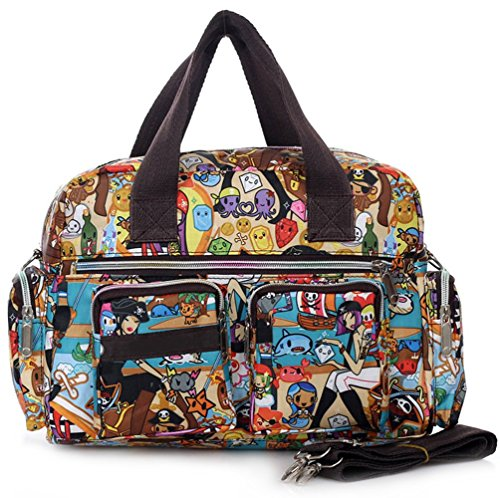 Borsa di stoffa impermeabile mano Messenger Bag 7