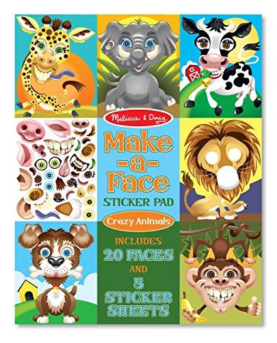 Melissa & Doug Make-a-Face Crazy Animals Sticker Pad (Sticker Pads compare prices)