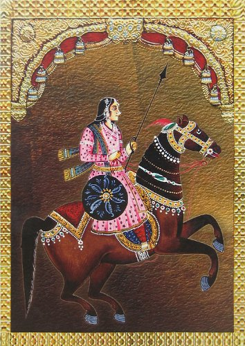"Dolls Of India ""Queen Lakshmibai"" Reprint On Paper - Unframed (31.12 X 43.81 Centimeters)"