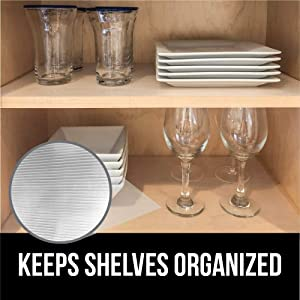 Gorilla Grip Ribbed Top Drawer and Shelf Liner, Non Adhesive Roll, 12 Inch x 20 FT, Durable and Strong, Grip Liners for Drawers, Shelves, Kitchen Cabinets, Storage and Kitchens, Beige Opaque Ribbed (Color: Beige Opaque (Ribbed), Tamaño: 12 x 20')