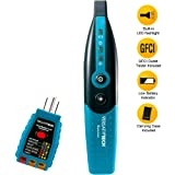 Circuit Breaker Finder with GFCI Circuit Tester & LED flashlight by VersativTECH - Smart Circuit Breaker Locator to trace the right Circuit Breaker powering an Electric Outlet quickly & accurately (Color: Teal, Tamaño: Pocket Size)
