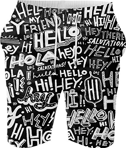 Snoogg-Digital-Printed-Mens-Casual-Beach-Jogger-Shorts-With-Pockets-Boxer-Style