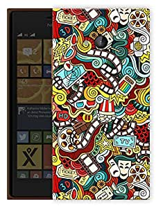 """Humor Gang Movies My Life Printed Designer Mobile Back Cover For """"Nokia Lumia 730"""" (3D, Matte, Premium Quality Snap On Case)"""