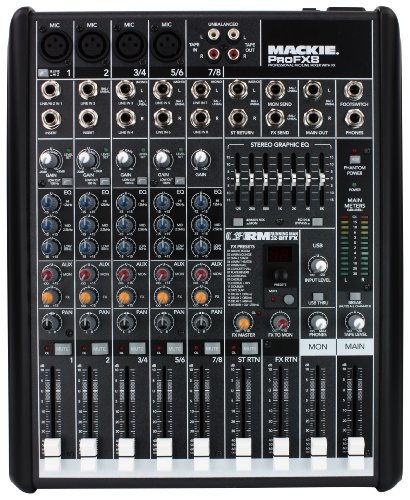 Mackie PROFX8 8-Channel Compact Effects Mixer