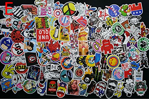 Car Stickers Decals Pack 100 Pieces Bumper Stickers Random Patterns (Potty Time With Elmo App compare prices)