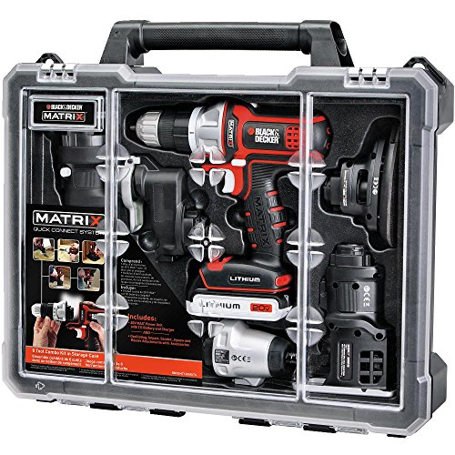 Best Deals! Black & Decker BDCDMT1206KITC Matrix 6 Tool Combo Kit with Case