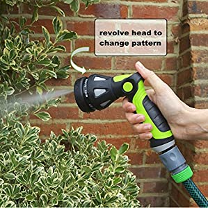 Garden Hose Nozzle / Hand Sprayer 8 Pattern Adjustable with Thumb Flow Control - Suitable for Car Washing, Cleaning the Deck or Patio, Watering Garden Plants and Washing Dogs& Pets