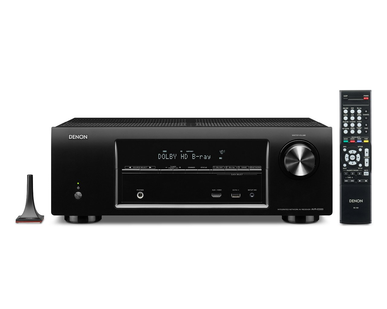 Denon AVR-E300 5.1 Channel 3D Pass Through and Networking Home Theater AV Receiver