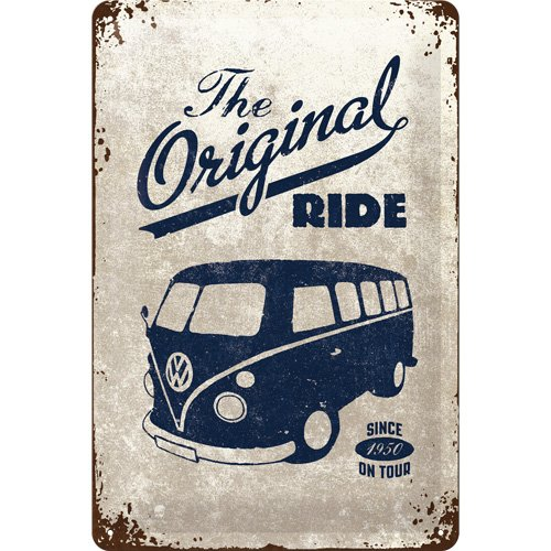 nostalgic-art-bilderpalette-22188-volkswagen-vw-the-original-ride-bulli-plaque-en-metal-30-x-20-cm